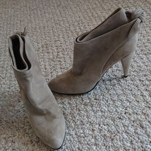 Sigerson Morrison suede sweet bow booties